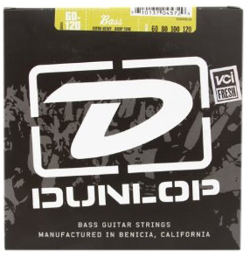 Plated Strings Bass Nickel Guitar (Dunlop DBS60120 Stainless Steel Bass Strings, Extra Heavy, .060–.120, 4 Strings/Set)