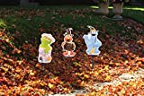 ProductWorks 8-Inch Pre-Lit Sesame Street Halloween Pathway Markers (Set of 3)