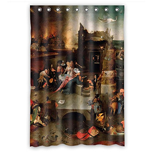 (Rust Proof Polyester Shower Curtains, Hieronymus Bosch Art Painting, Size Width X Height / 48 X 72 Inches / W H 120 By 180 Cm Modern Design, Best Fit For Wife)