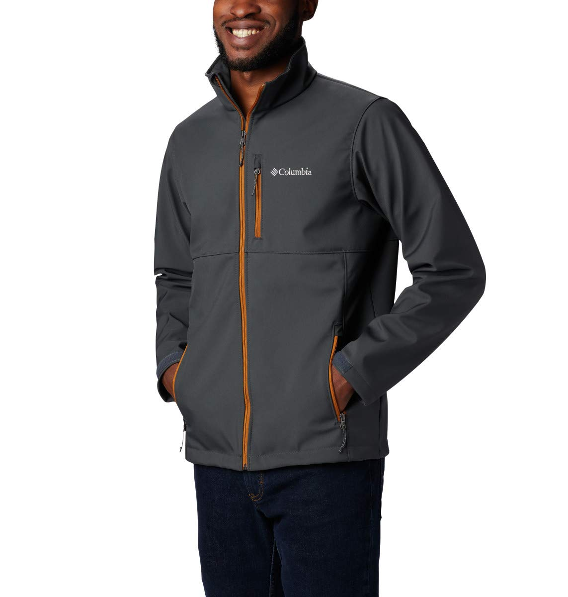 Columbia Men's Ascender Softshell Jacket, Water & Wind Resistant, Shark, Large by Columbia