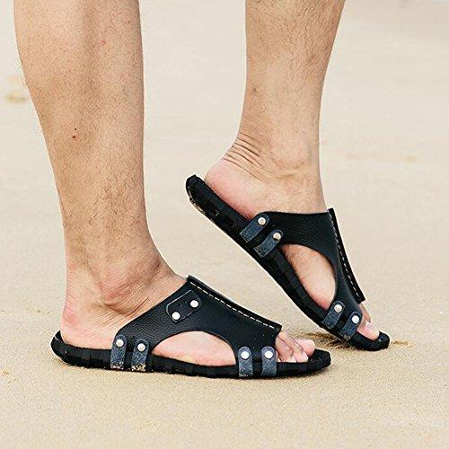 Sunny para Sandals Men Zapatillas Black Exteriores Beach Antideslizantes Summer rEwPrnq4SZ