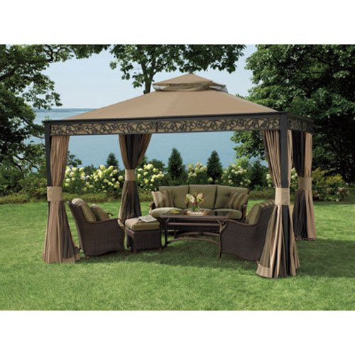 OPEN BOX Living Home 10 x 12 Gazebo Replacement Canopy - RipLock