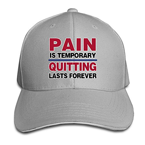 Pain Is Temporary Quitting Lasts Forever Sandwich Bill Baseball Hat