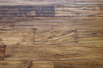 "Elk Mountain Acacia Natural Haze 3/4 x 4-3/4"" Hand Scraped Solid Hardwood Flooring SAMPLE"