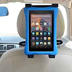Car Kindle Fire Tablet Holder for all Kindle Fire - Fire 7 (Previous Generation 1st) & Kindle Fire 7 / HD6 / HD 7 / HD X7 / HD X 8.9 / HD X9 & Fire 7 / HD 7 / HD 8 Kid Edition