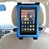 E-LU Car Kindle Fire Tablet Holder for all Kindle Fire - Fire 7 (Previous Generation 1st) & Kindle Fire 7 / HD6 / HD 7 / HD X7 / HD X 8.9 / HD X9 & Fire 7 / HD 7 / HD 8 Kid Edition