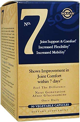 Solgar® No. 7, Joint Support & Comfort, Increased Flexibility, Increased Mobility, Non-GMO, 90 Vegetable Capsules