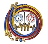 Mastercool (66661) Brass Manifold Gauge Set