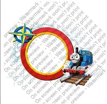 6 Round ~ Thomas The Train Photo Frame Birthday ~ Edible Image Cake ...