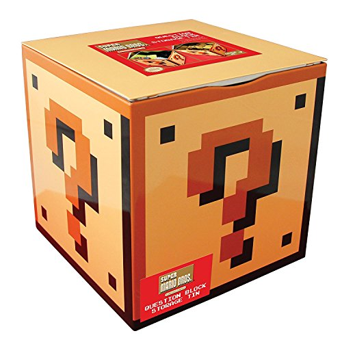 Mario Game Bros Original Super (Paladone Super Mario Bros Question Block Storage Tin)