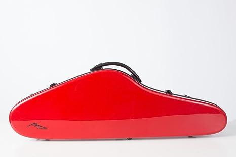 Estuche para violín de fibra de vidrio Slim Flight 4/4 Rojo M-Case