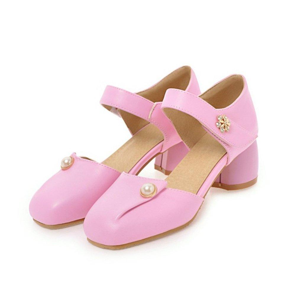 Zapatos de mujer de las hueco mujeres de cuero Azul sandalia ...