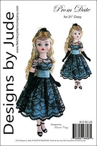 Prom Date Doll Clothes Sewing Pattern for 21