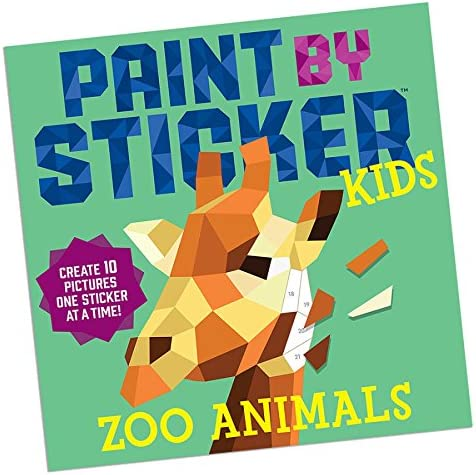 2017 Christmas Toys Educational Books Toys READ N LEARN Paint by Sticker Kids Zoo Animals