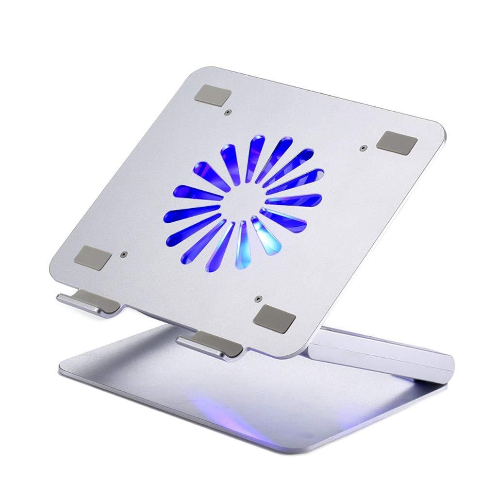 Aluminum Lift Desktop with Fan USB Expansion Radiator Folding Laptop Heightening Bracket (Size : 2 USB Ports)