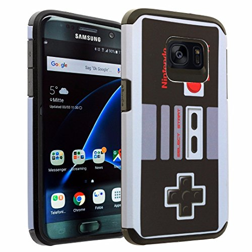 Samsung Galaxy S7 Case DURARMOR® Galaxy S7 [Lifetime Warranty] Vintage Nintendo NES Game Controller Dual Layer Hybrid ShockProof Ultra Slim Fit Armor Bumper Air Cushion Protector Case Cover Review