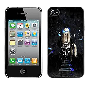 LECELL -- Funda protectora / Cubierta / Piel For Apple iPhone 4 / 4S -- Sci Fi Hipster Space Girl --