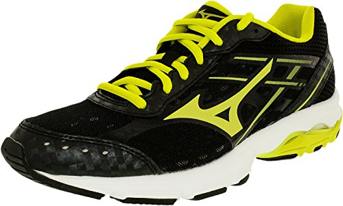 Mizuno Usa Mens Women's Wave Unite 2 BK OPT Running Shoe, Black Optic/Sulphur, 9.5 M US