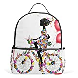 School Backpack African American Bicycle Women Travel Bag For Teenagers Boys Girls For Sale