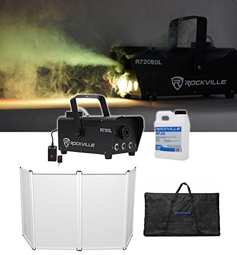 Rockville RFAAW DJ Event Facade Booth+Travel Bag+Scrim+LED Fog Machine+Juice by Rockville