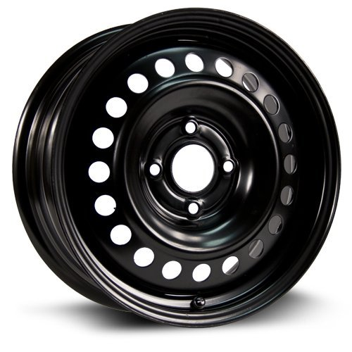 Aftermarket Steel Rim 16X6.5, 4X114.3, 66.1, +45, black finish (MULTI APPLICATION FITMENT) X46645
