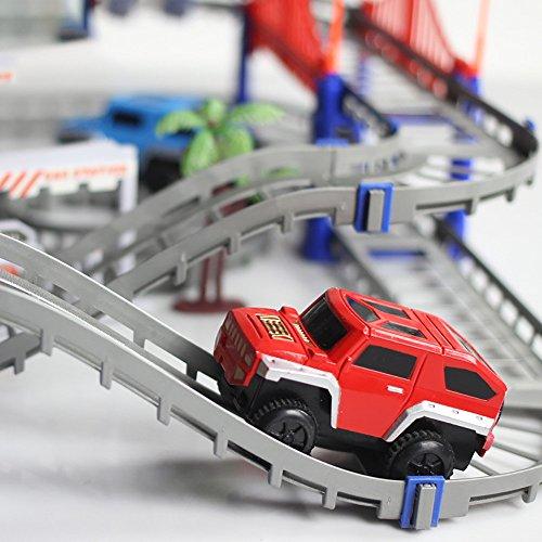 Amazon.com: 73pcs Car Racing Tracks DIY Assembled Electric Car ...