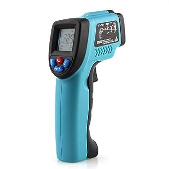 Termómetro de infrarrojos de -50 a 550 ℃, pirometro digital, láser, termómetros