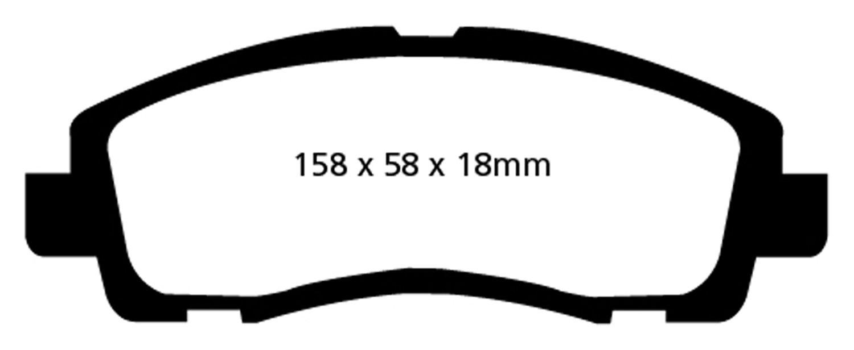 EBC Brakes DP31753C Redstuff Ceramic Low Dust Brake Pad