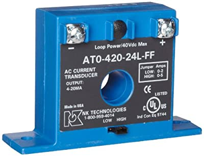 NK Technologies AT Series AC Current Transducer, Solid-core, Front Term, FF Case Style