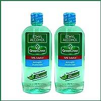 Green Cross Ethyl Alcohol 70% Solution, 500ml - Pack of 2