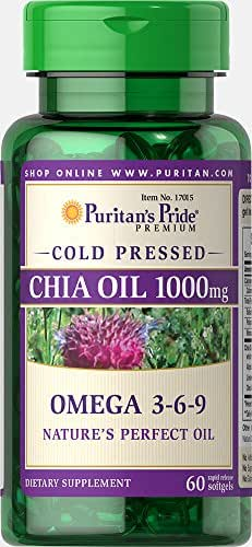 Puritan's Pride Omega 3-6-9 Chia Seed Oil 1000 mg-60 Rapid Release Softgels
