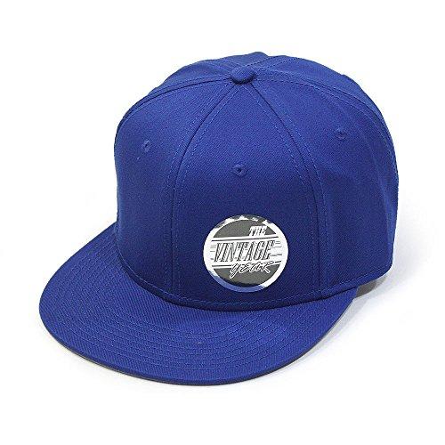 (Premium Plain Cotton Twill Adjustable Flat Bill Snapback Hats Baseball Caps (Varied Colors) (Royal))