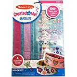 Melissa & Doug Design-Your-Own Bracelets (Arts & Crafts, Easy Tab Closure, Reversible and Adjustable, 4 Double-Sided Bracelets, Great Gift for Girls and Boys - Best for 4, 5, 6, and 7 Year Olds)