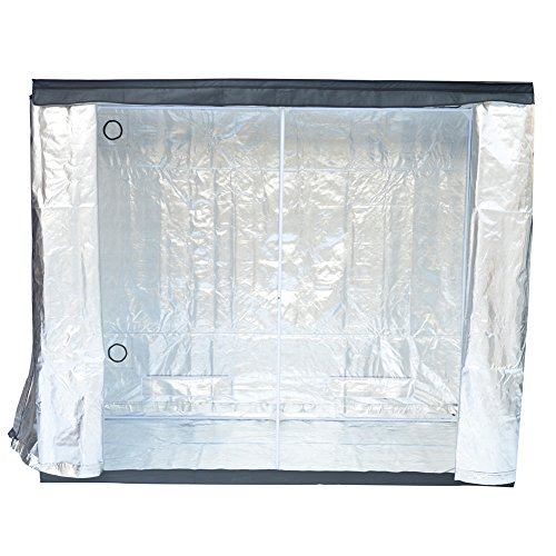"""51b6YUhspBL - Grow Tent Indoor 8x4 Feet Not Include LED - Large Reflective Mylar Hydroponic/Hydro Waterproof Seedling Plant Growing Room for Grow Tents, Black 96""""x48""""x78"""""""