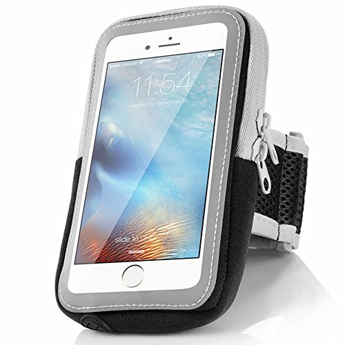 iphone7 Armband,Outdoor Sports Arm Package Bag Cell Phone Bag Key Holder For iphone 6 6s 5s 5c se iPod Touch (Black)