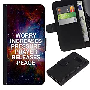 All Phone Most Case / Oferta Especial Cáscara Funda de cuero Monedero Cubierta de proteccion Caso / Wallet Case for Sony Xperia Z3 Compact // BIBLE Worry Increases Pressure