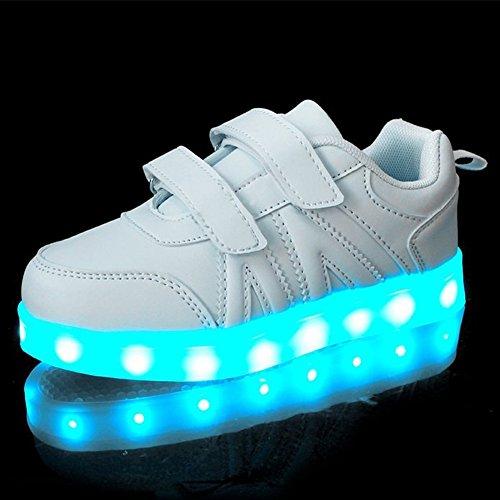 LASYMIE ,  Unisex Kinder Sneaker Low-Tops , weiß - weiß - Größe: 27 EU Kinder