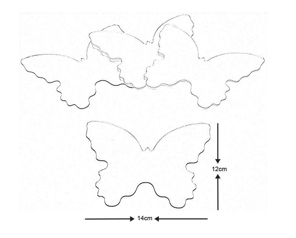 Vinyle Multicolore Thedecofactory MIR0008BTS Stickers Miroir Papillons ROOMMATES REPOSITIONNABLES 14X12CM 26 x 26 x 1 cm