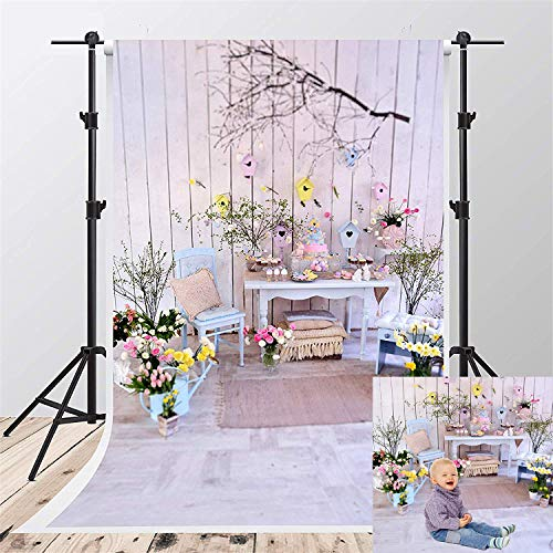 Kate 5x7ft Happy Easter Photography Backdrops Spring Flowers Background Eggs Decoration Backdrop Props for -