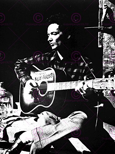 Music Concert Photography Woody Guthrie Protest Folk Singer Poster Art Print