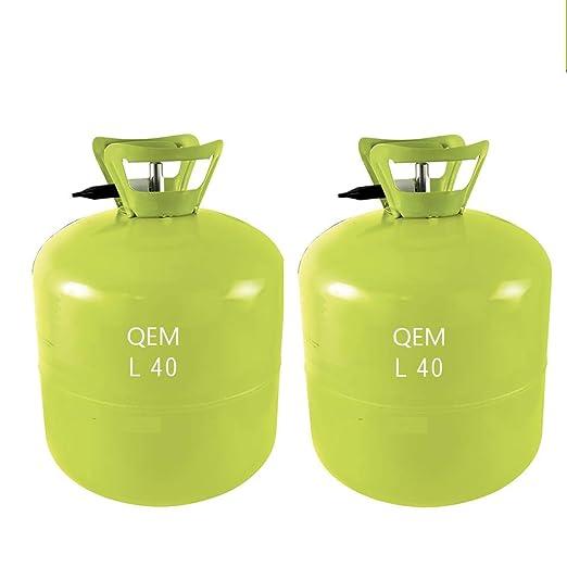 Deguizland Grande - Juego de 2 Botellas de Helio L40 para inflar ...