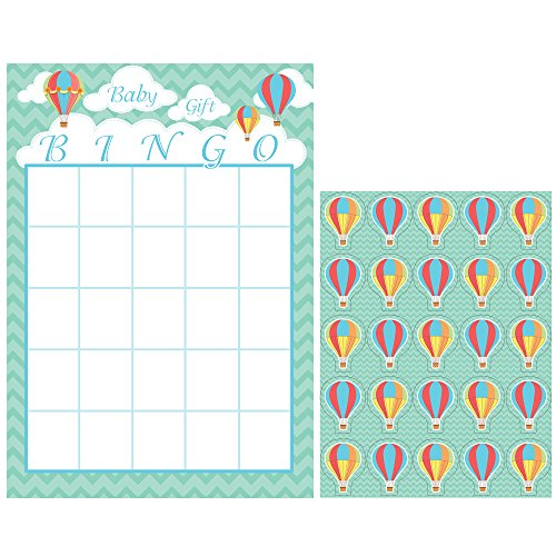 Creative Converting Up, Up & Away Baby Shower Bingo Game for 10]()