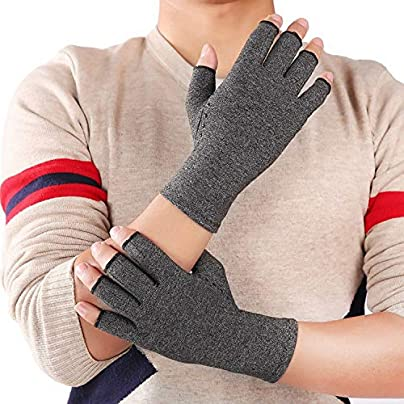 Sunonip Hands Wristbands Arthritis Gloves Cotton Therapy Compression Gloves Gel Anti-Slip Arthritis Hands Pain Relief Gaming Typing Fing Estimated Price £8.19 -
