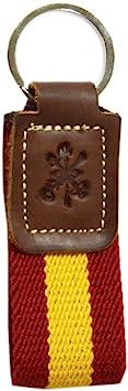 Llavero Legión Española. Tira de loneta Bandera de España. Escudo Grabado en la Piel. Med. 10.5 cm: Amazon.es: Equipaje