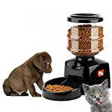 ICOCO 5.5L Automatic Pet Feeder with Voice Message Recording and LCD Screen...