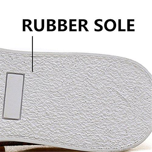 Classiche Uomo Sneakers Tela da Marrone Traspiranti Basse Sneakers Marrone Scarpe Grid wP0Iq0
