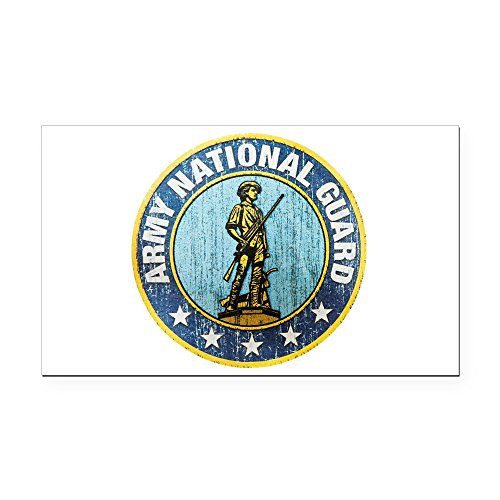 Rectangle Car Magnet Large Army National Guard Emblem