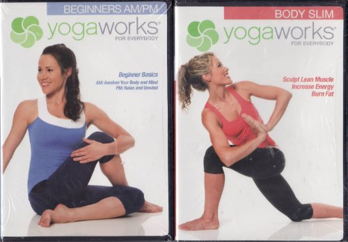 Yogaworks For Everybody 2 Dvd Set Beginners Am Pm Basic Beginners   Body Slim   Sculpt Lean Muscle Increase Energy And Burn Fat