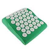 SunniMix Women Men Spiky Acupressure Pillow Massage Acupressure ReflexologyCushion For Shoulder Neck Muscle 11.70 x 8.58 x3.71 inch - Green