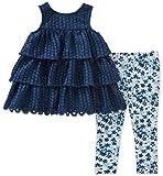Calvin Klein Baby Girl's Tunic Legging Set Pants, Navy, 6/9M